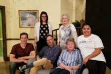 Seated, from left: Greg Tsigaridas, Ed Kinman, Martha Womack, Miriam Loya.  Standing: Caitlin Mazura and Daphne Mason.